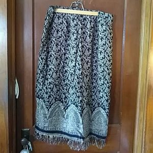 Long fringe skirt